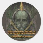 Obispo Porteus Quote en héroes y malvados Pegatina Redonda