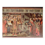 Obispo Roberto Sherburne con Enrique VIII Postal