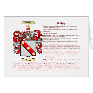Obispo (significado) tarjeta pequeña