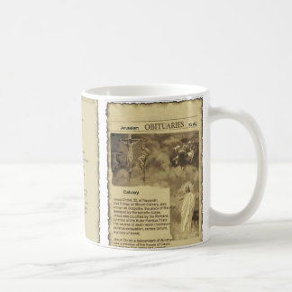 Obituary of Jesus Christ The Good Shepherd Coffee Mug