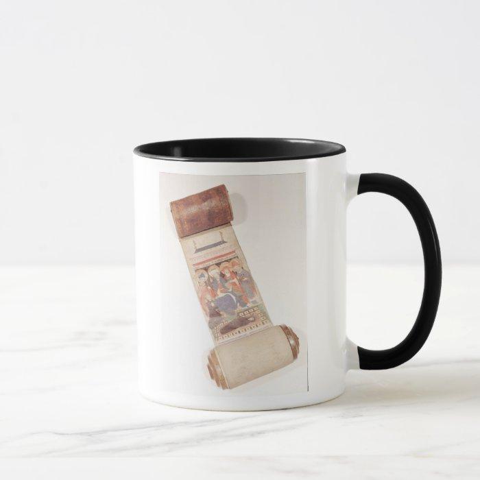 Obituary scroll, 1406 mug