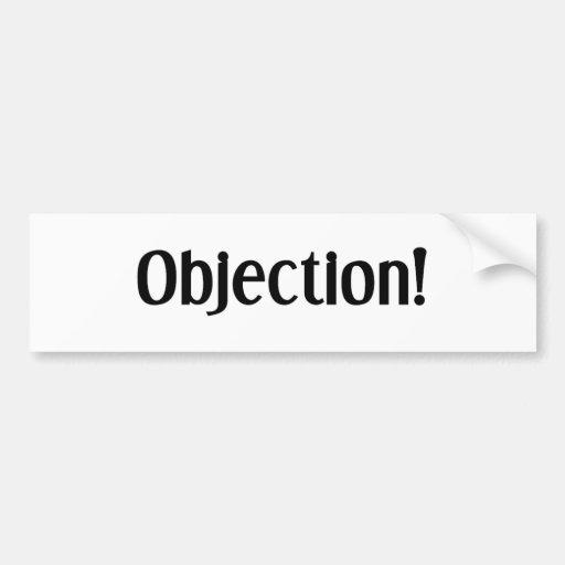 Objeción Etiqueta De Parachoque