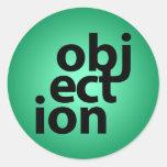 objeción etiquetas