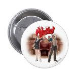¡Objeción! Mia y Godot Pin Redondo 5 Cm