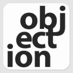 objeción pegatinas cuadradas personalizadas