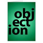 objeción tarjeta