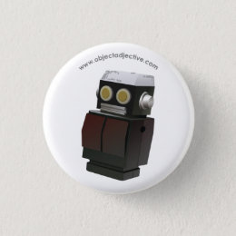 Object Adjective Robot Pinback Button