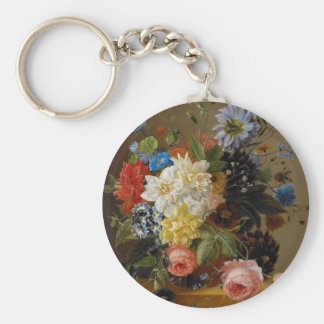 Object at rest picture of gorgeous flower keychains
