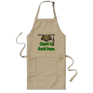 Object To World Peace Long Apron