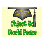 Object To World Peace Postcard