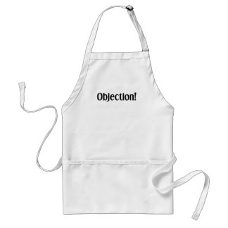 Objection Adult Apron