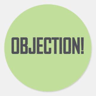 Objection! Classic Round Sticker