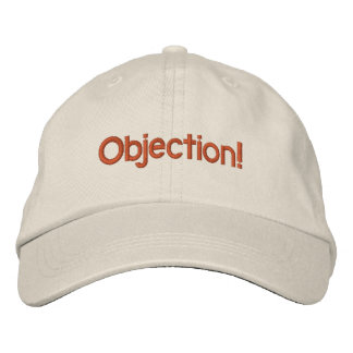 Objection hat embroidered baseball cap
