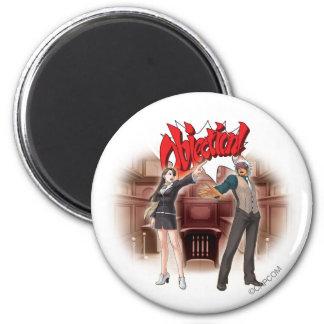 Objection! Mia & Godot Fridge Magnets