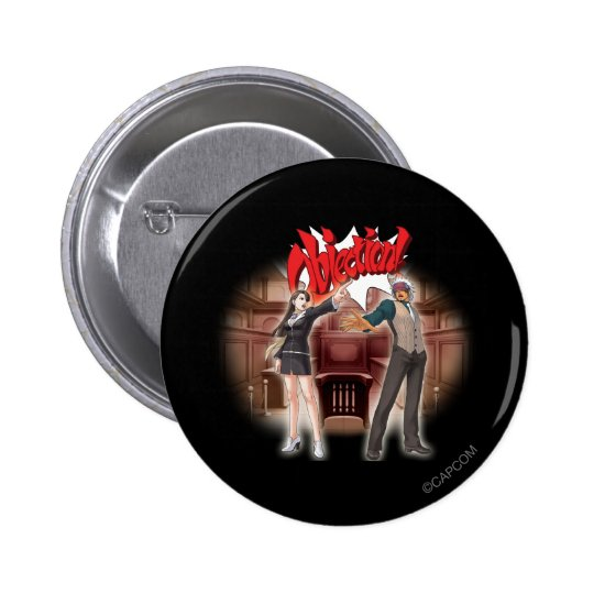 Objection! Mia & Godot Pinback Button