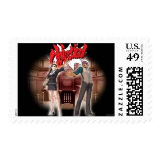 Objection! Mia & Godot Stamp