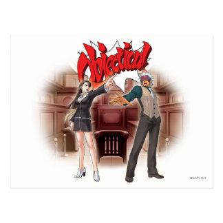 Objection! Mia & Godot Postcard