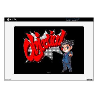 "Objection! Phoenix Wright Chibi 15"" Laptop Decals"