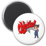Objection! Phoenix Wright Chibi 2 Inch Round Magnet