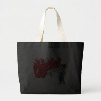 Objection! Phoenix Wright Chibi Canvas Bag