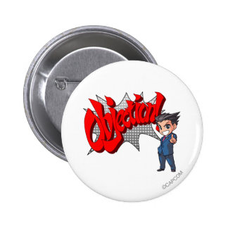 Objection! Phoenix Wright Chibi 2 Inch Round Button