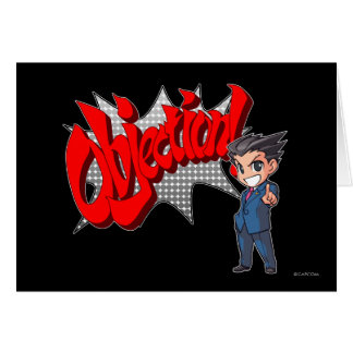 Objection! Phoenix Wright Chibi Card