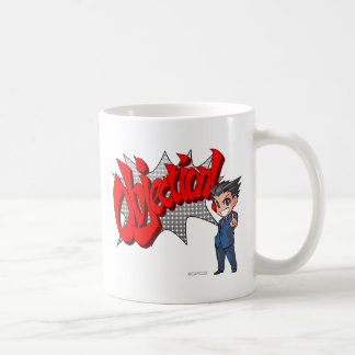 Objection! Phoenix Wright Chibi Coffee Mug