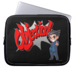 Objection! Phoenix Wright Chibi Computer Sleeves