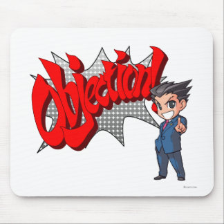 Objection! Phoenix Wright Chibi Mouse Pad