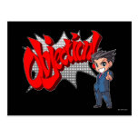 Objection! Phoenix Wright Chibi Post Cards