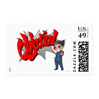 Objection! Phoenix Wright Chibi Postage Stamp