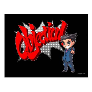 Objection! Phoenix Wright Chibi Postcard