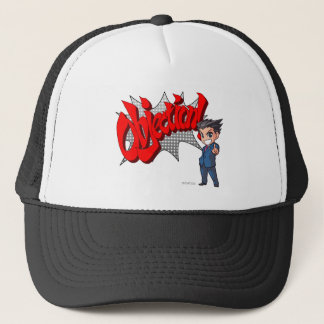 Objection! Phoenix Wright Chibi Trucker Hat