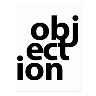 objection postcard