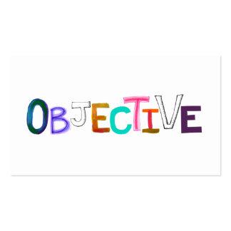 Objective rational fair scientific legal word art business card