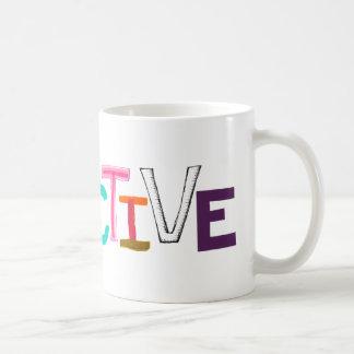 Objective rational fair scientific legal word art coffee mug