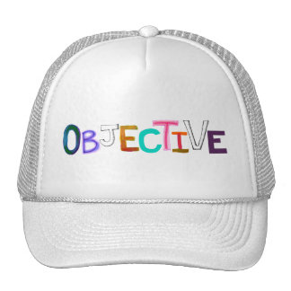 Objective rational fair scientific legal word art trucker hat