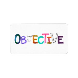 Objective rational fair scientific legal word art label