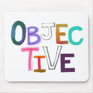 Objective rational fair scientific legal word art mouse pad