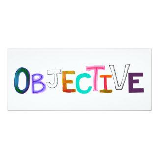 Objective word art rational fair legal unbiased card
