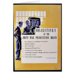 Objectives Of The Joint War Production Drive Greeting Card
