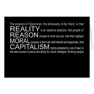 Objectivism Greeting Card