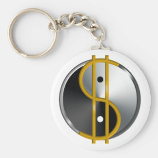 Objectivist Yin/Yang  keychain
