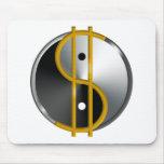 Objectivist Yin/Yang  mouspad Mouse Pads
