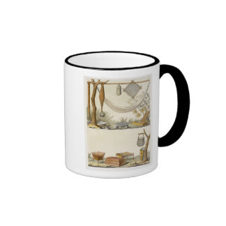 Objects belonging to Indians (colour engraving) Mug