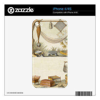 Objects belonging to Indians (colour engraving) Skin For The iPhone 4