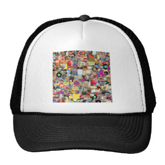 Objects collage mesh hats