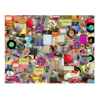 Objects collage post cards