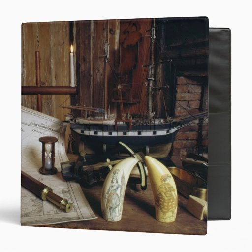 Objects from a Nineteenth Century Captain's Desk Vinyl Binder