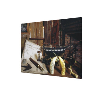 Objects from a Nineteenth Century Captain's Desk Canvas Print